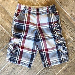Boys plaid shorts- Guess